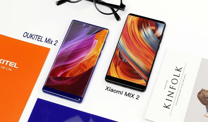 Oukitel Mix 2 đọ dáng cùng Xiaomi Mix 2, K10000 Max bắt đầu lên kệ