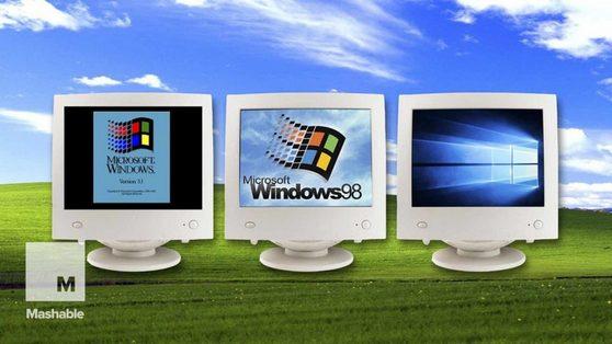 """32 năm Windows """"tiến hóa"""" gói gọn trong 90 giây"""