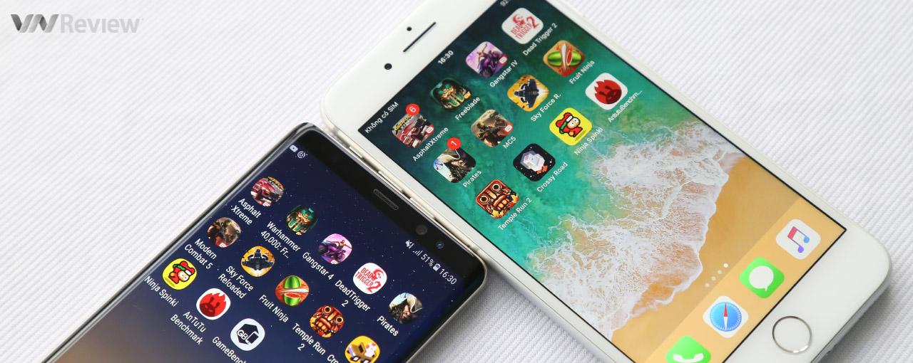 Galaxy Note 8 và iPhone 8 Plus: đọ hiệu năng, so độ mượt khi chơi game nặng