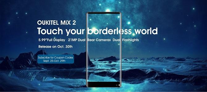 Đọ thông số Oukitel Mix 2 và Xiaomi MIX 2