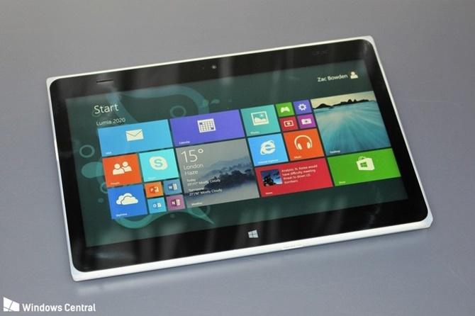 Đây là chiếc tablet Lumia 2020 nhưng Microsoft đã hủy bỏ kế hoạch phát hành