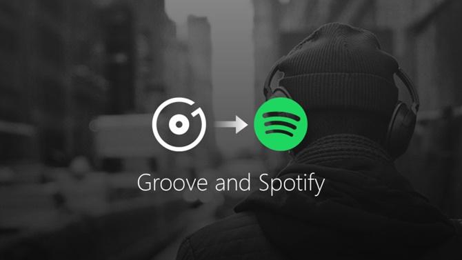 """Groove Music """"qua đời"""", được thay thế bằng Spotify"""