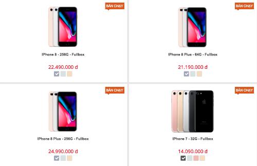 Giá iPhone 7, 7 Plus ở Việt Nam giảm sâu vì iPhone 8