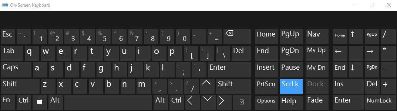Hướng dẫn tắt Scroll Lock trên Excel