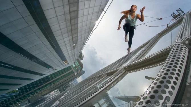 Thót tim với bộ ảnh các vận động viên treo leo giữa những tòa cao ốc ảnh 4