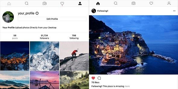 Đăng ảnh từ máy tính lên Instagram bằng ứng dụng Windowsed