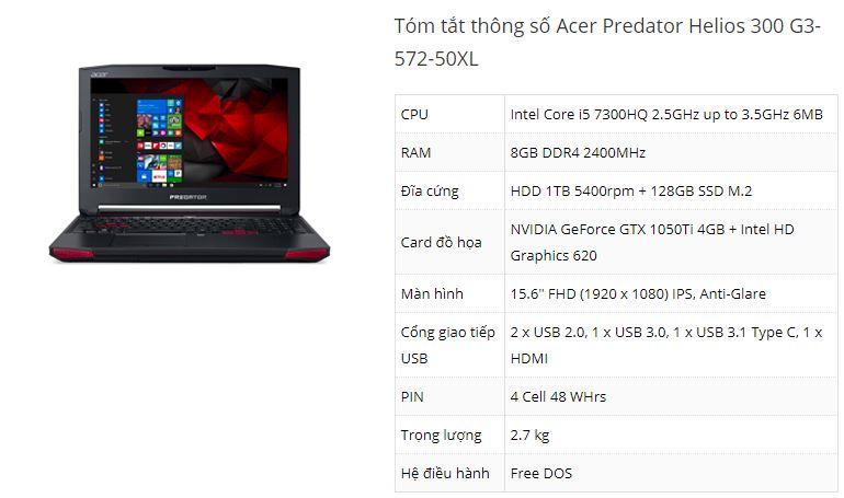 Đánh giá laptop chơi game Acer Predator Helios 300 - ảnh 10