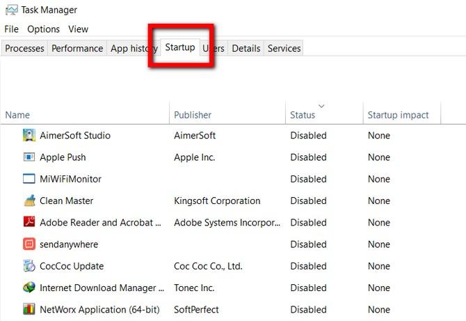 Windows 10 Redstone 4 sẽ xóa mục Startup khỏi Task Manager
