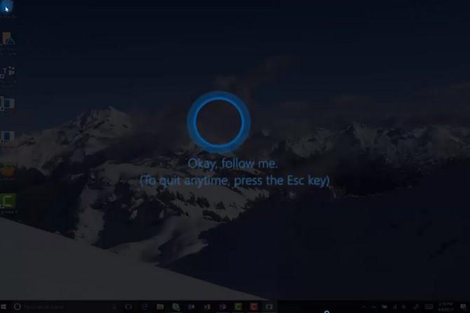"""Trợ lý ảo Cortana sẽ đóng vai trò """"bảo mẫu"""" chỉ dẫn người dùng"""