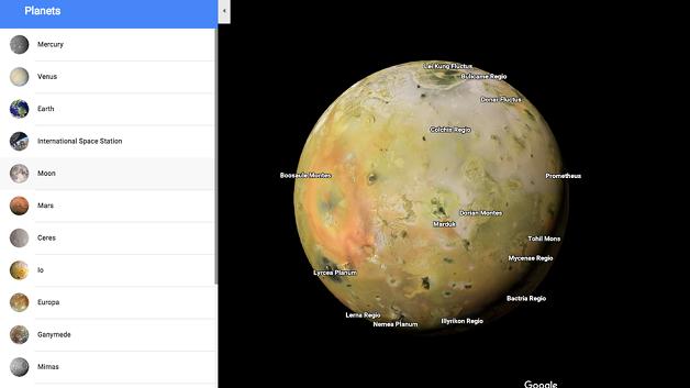 Đã có thể khám phá Mặt Trăng và các hành tinh khác bằng... Google Maps
