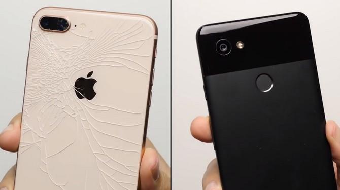 Thử nghiệm thả rơi Google Pixel 2 XL và iPhone 8 Plus: 5 ăn 5 thua