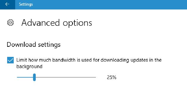 Cách giới hạn băng thông download của Windows Update trên Windows 10