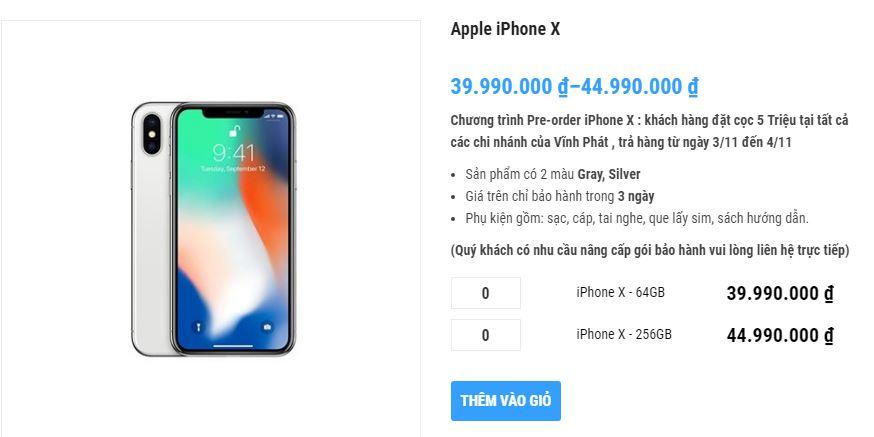 iPhone X xách tay về Việt Nam loạn giá, dao động từ 35-50 triệu đồng