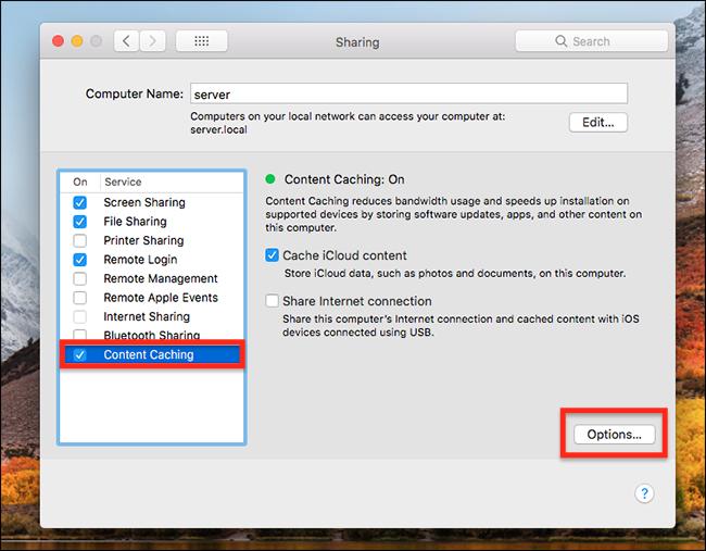 Tăng tốc tải file trên máy Mac, iPhone và iPad với Content Caching