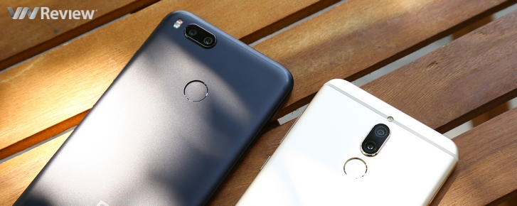 Xiaomi Mi A1 và Huawei Nova 2i đọ camera giấu mặt