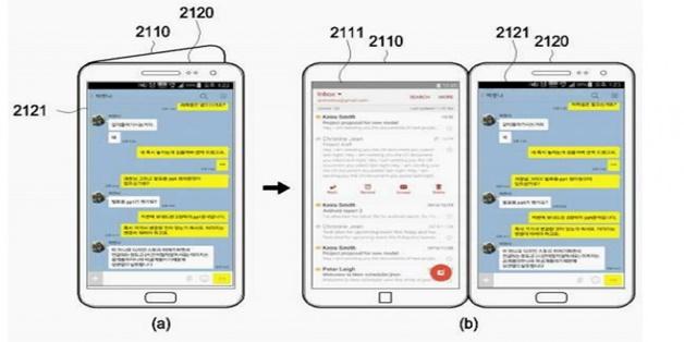 """Lộ diện bằng sáng chế giao diện """"màn hình kép"""" của Samsung Galaxy X"""