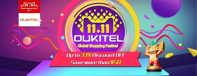 Oukitel giảm giá một loạt smartphone trong ngày 11/11, mức giá mới từ 58,49 USD