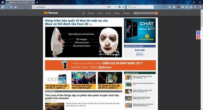 Mozilla phát hành Firefox 57 Quantum: giao diện mới, ít ngốn RAM hơn Chrome tới 30% - ảnh 3