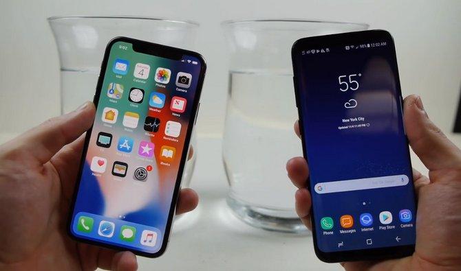 Ngâm iPhone X và Galaxy S8 trong nước đá: Ai sẽ thắng? - ảnh 1