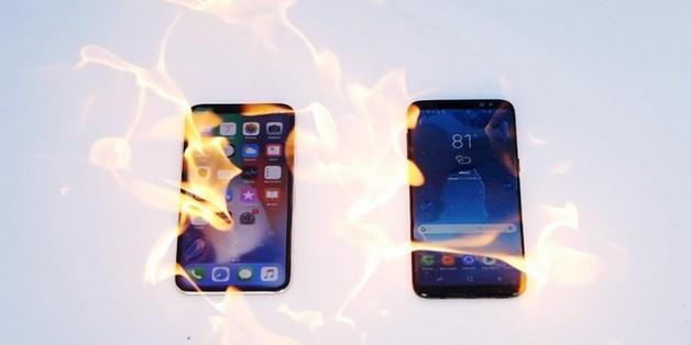 Thử nghiệm đốt cháy iPhone X và Galaxy S8: Samsung bất ngờ thất thế