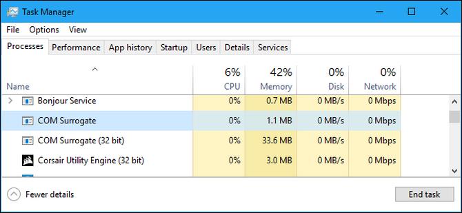 COM Surrogate (dllhost.exe) là gì? Tại sao tiến trình này luôn chạy trên máy tính?