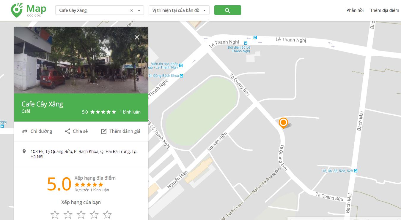 """Cốc Cốc Map có gần 1,2 triệu điểm dịch vụ """"sống"""" tại Việt Nam"""
