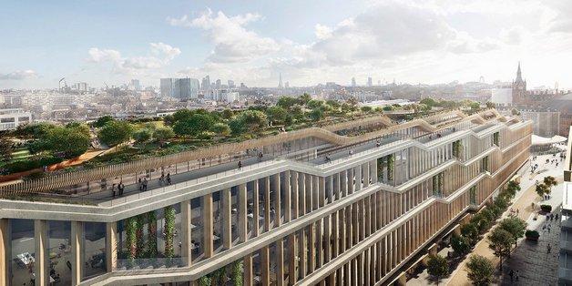 Phối cảnh trụ sở mới của Google tại London mang xu hướng kiến trúc tương lai