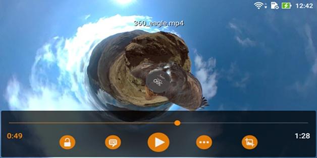 Ứng dụng VLC (Android) đã hỗ trợ xem video 360 độ