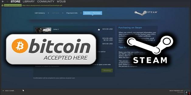 Steam ngừng hỗ trợ Bitcoin vì giá cao và dễ biến động