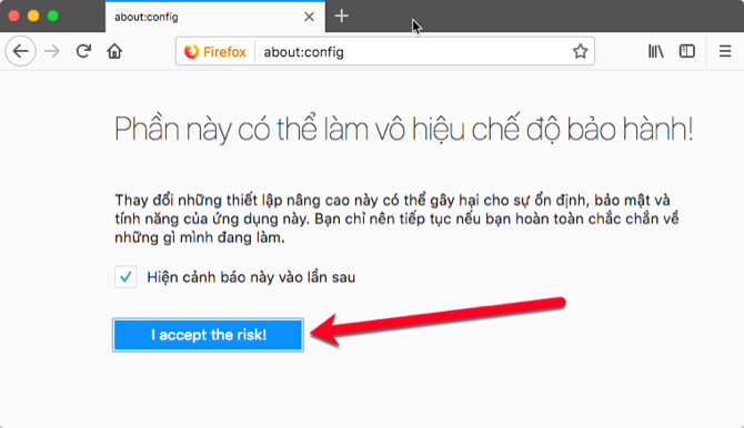 Làm sao để chặn không cho các website hiện yêu cầu muốn gửi thông báo?