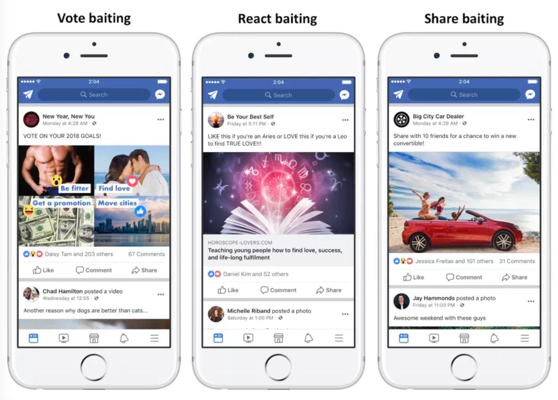 Facebook sẽ hạ cấp các bài viết câu like, bình luận và chia sẻ - ảnh 1