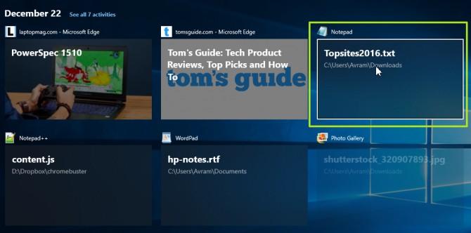 Hướng dẫn sử dụng tính năng Timeline trên Windows 10