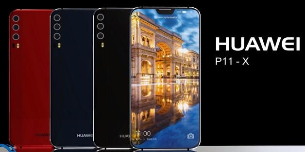 Ý tưởng Huawei P11 X với tai thỏ giống iPhone X và có tới 3 camera sau