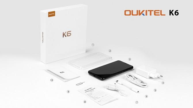 Oukitel công bố video mở hộp K6, smartphone đầu tiên được trang bị chip Helio P23