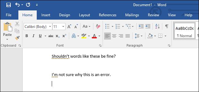 Cách bỏ đường gạch đứt màu đỏ trong Word