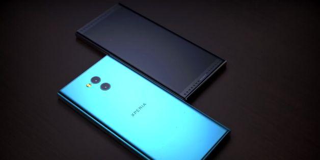 Ngắm ý tưởng Sony Xperia XZ2 Premium vuông vức và đầy sang trọng