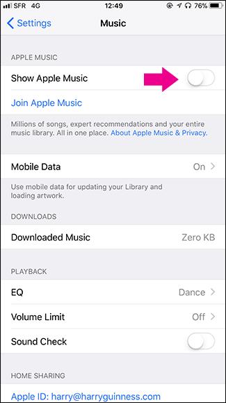 Cách loại bỏ Apple Music khỏi ứng dụng Music trên iPhone - ảnh 3