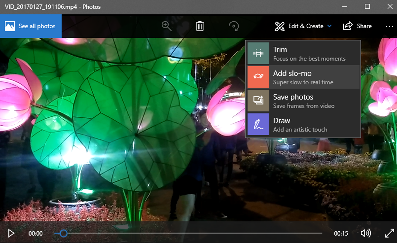 Thêm hiệu ứng slow-motion cho video bằng ứng dụng Photos