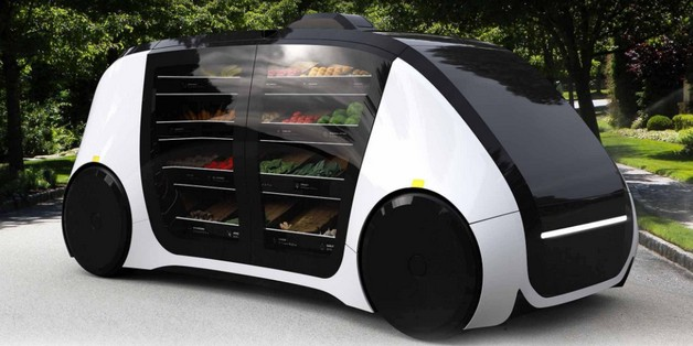 [CES 2018] Robot tự lái Robomart có thể mang cả sạp rau quả tươi sống tới nhà bạn