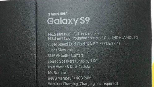 Người Việt làm lộ ảnh hộp Galaxy S9: Camera khẩu độ f/1.5 tốc độ cao