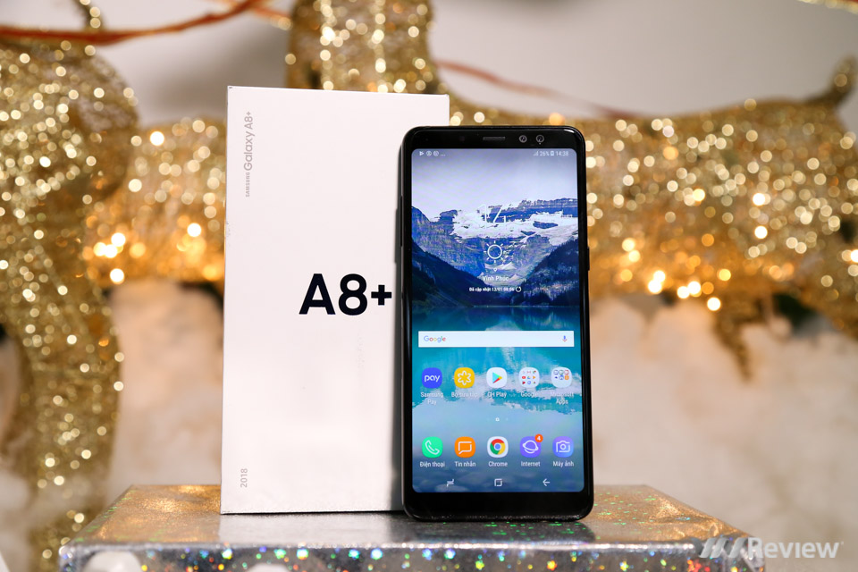 Mở hộp và trên tay Samsung Galaxy A8+ (2018): mở khóa khuôn mặt, selfie xóa phông - ảnh 1