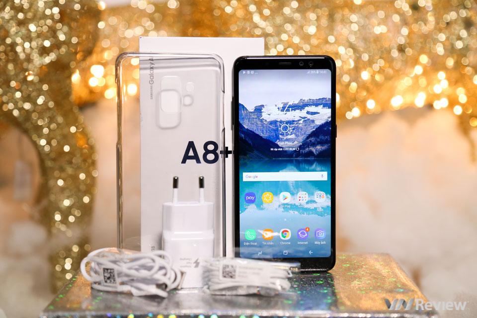 Mở hộp và trên tay Samsung Galaxy A8+ (2018): mở khóa khuôn mặt, selfie xóa phông - ảnh 19