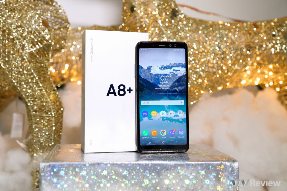 Mở hộp và trên tay Samsung Galaxy A8+ (2018): mở khóa khuôn mặt, selfie xóa phông - ảnh 20