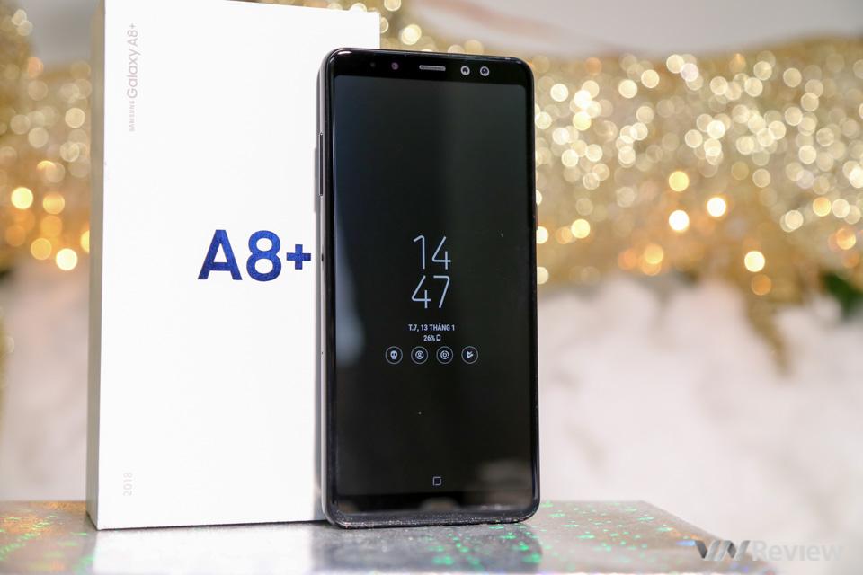 Mở hộp và trên tay Samsung Galaxy A8+ (2018): mở khóa khuôn mặt, selfie xóa phông - ảnh 23