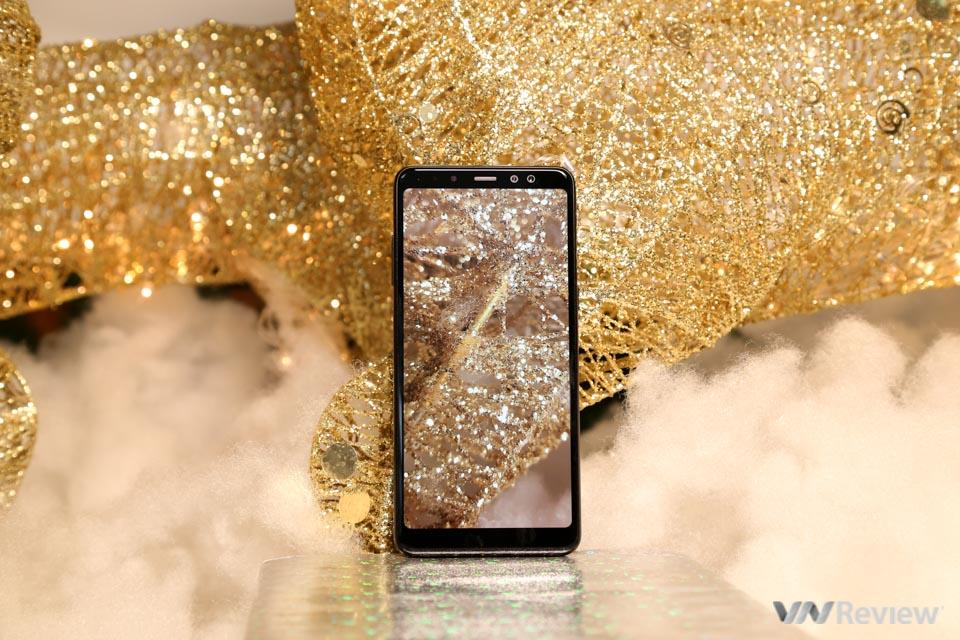 Mở hộp và trên tay Samsung Galaxy A8+ (2018): mở khóa khuôn mặt, selfie xóa phông - ảnh 26