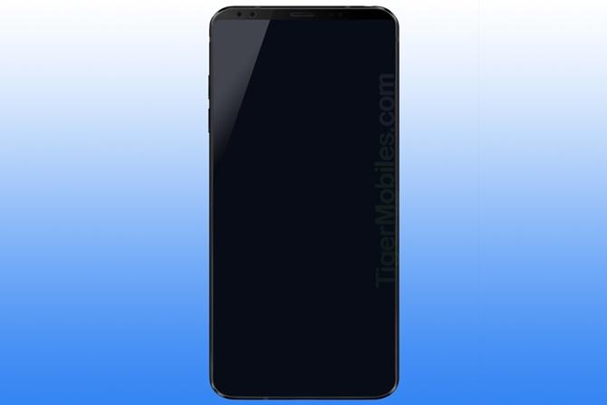 Lộ diện bản render LG G7 với thiết kế gần như không có viền màn hình