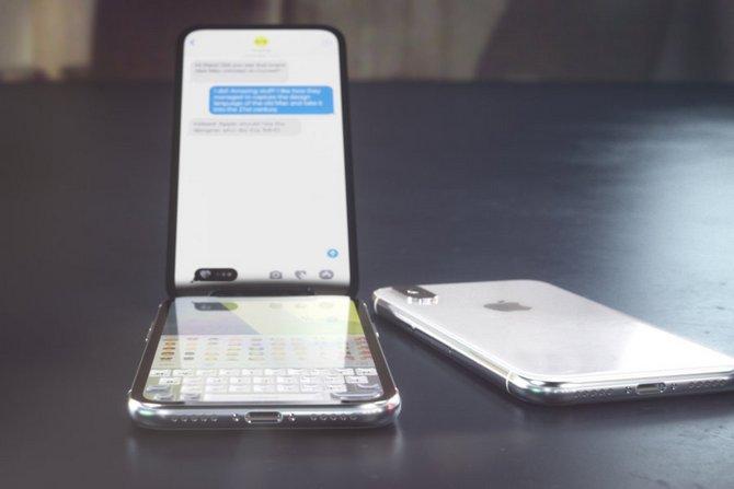 Sẽ ra sao nếu iPhone X là một chiếc điện thoại nắp gập? - ảnh 4