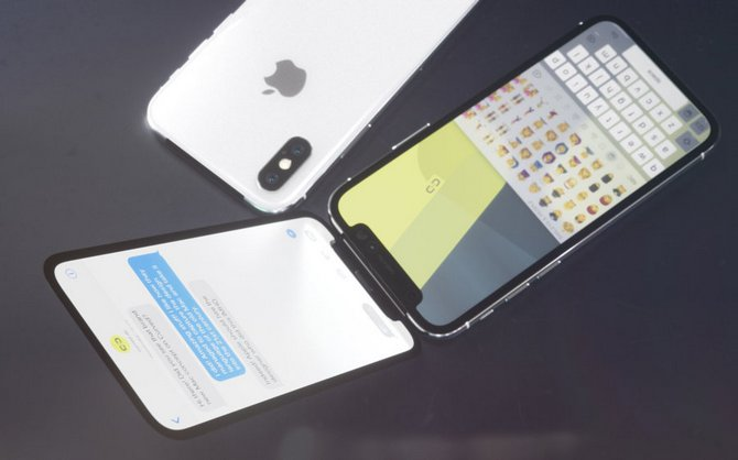 Sẽ ra sao nếu iPhone X là một chiếc điện thoại nắp gập? - ảnh 3
