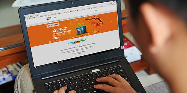 FPT Telecom cung cấp dịch vụ thanh toán cước Internet và truyền hình tự động