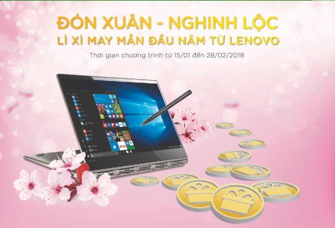 """Đón xuân năm mới với lì xì """"khủng"""" từ Lenovo"""